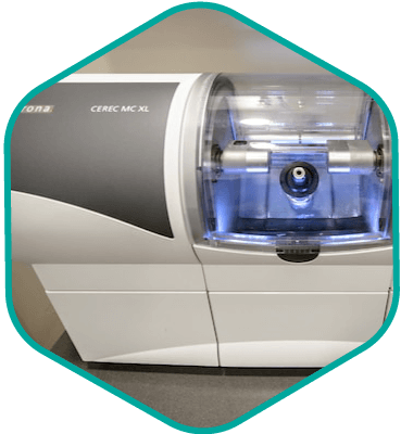 CEREC machine used to create crowns, bridges, and other dental restorations at South Shore Prosthodontics