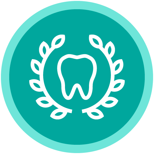 A circle icon with a tooth inside to show that our dentistry in Hingham, MA is all about you