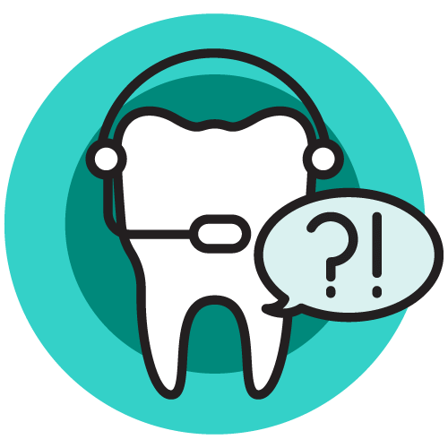 A tooth with a headset on and speech bubble to represent the open communication at our dentist office